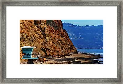 Del Mar - Torrey Pines Beach Framed Print by Russ Harris