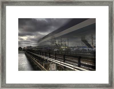Del Mar Train Framed Print