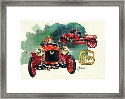 Delahaye 43hp Fire Engine  Framed Print by Yoshiharu Miyakawa