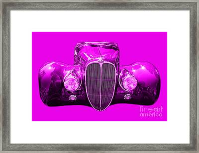 Delahaye . Magenta Framed Print by Wingsdomain Art and Photography