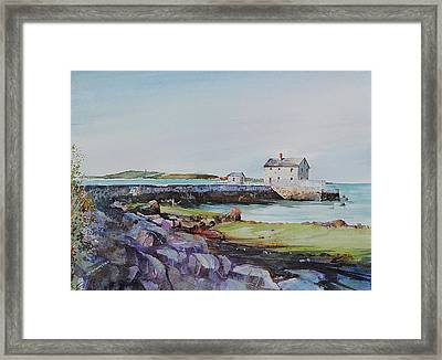 Delano's Wharf At Rock Nook Framed Print