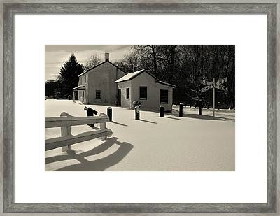 Framed Print featuring the photograph Delaware And Raritan Canal 3 by Steven Richman