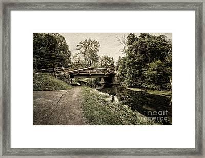 Delaware Canal Framed Print