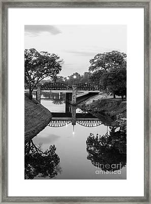 Delaware Creek At Dawn Framed Print
