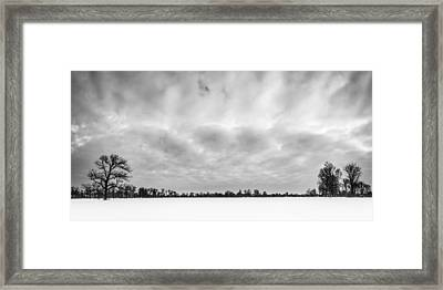 Framed Print featuring the photograph Delaware Park Winter  Meadow by Chris Bordeleau