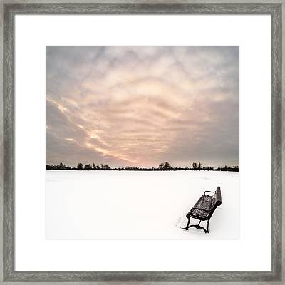 Framed Print featuring the photograph Delaware Park Winter Solace by Chris Bordeleau