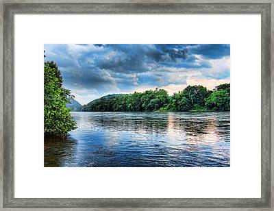 Framed Print featuring the photograph Delaware River by Michael Dorn
