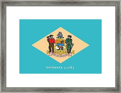 Delaware State Flag Framed Print by American School