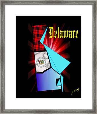 Delaware The First Framed Print