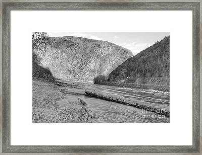 Delaware Water Gap In Winter Framed Print