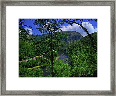 Delaware Water Gap Framed Print