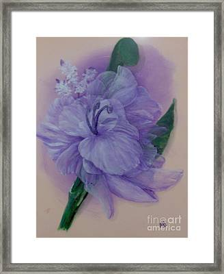 Framed Print featuring the painting Delicacy by Saundra Johnson