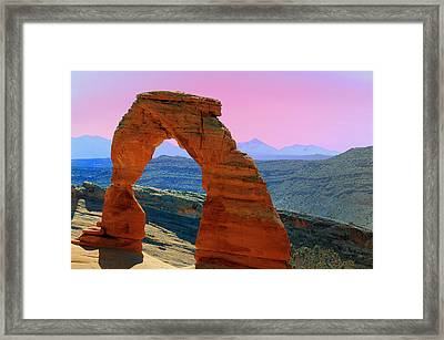Delicate Arch  --  Arches National Park Framed Print