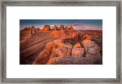 Delicate Arch #2 Framed Print by Jon Manjeot