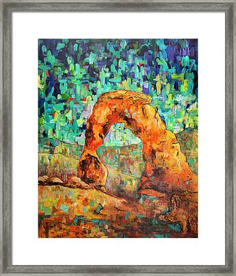 Delicate Arch As An Impression Framed Print