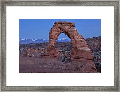 Delicate Arch At Twilight Framed Print