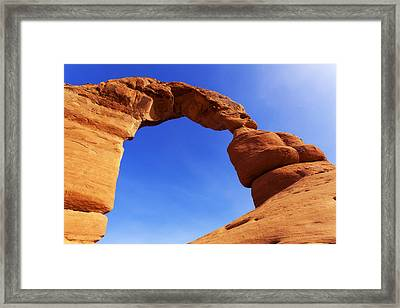 Delicate Arch Framed Print by Chad Dutson