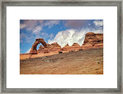Delicate Arch From Below Framed Print by Rick Berk