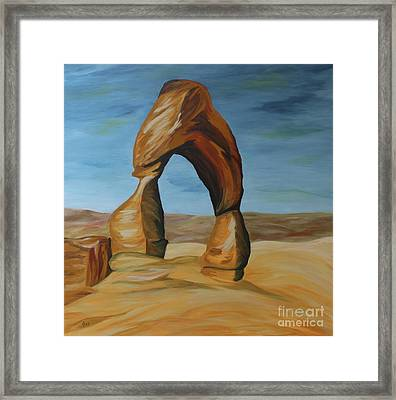 Delicate Arch II Framed Print by Christiane Schulze Art And Photography