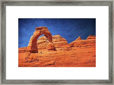 Delicate Arch In Arches Framed Print by Carolyn Derstine