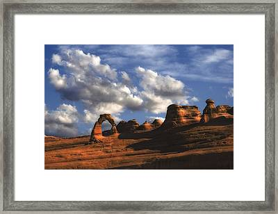 Delicate Arch In Arches National Park Framed Print by Utah Images
