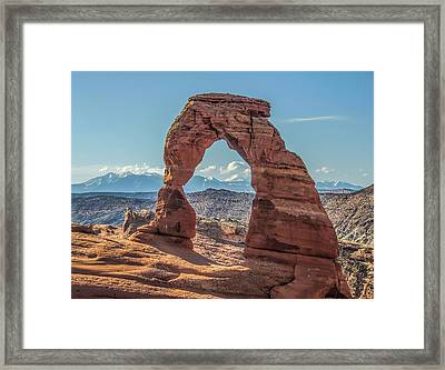 Delicate Arch In Early Morning Framed Print