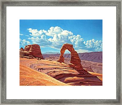 Delicate Arch Framed Print by Paul Krapf