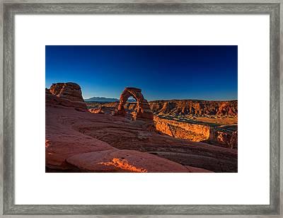 Delicate Arch Framed Print by Rick Berk