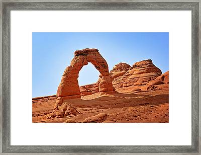 Delicate Arch The Arches National Park Utah Framed Print by Christine Till