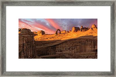 Framed Print featuring the photograph Delicate Arch   by Expressive Landscapes Fine Art Photography by Thom
