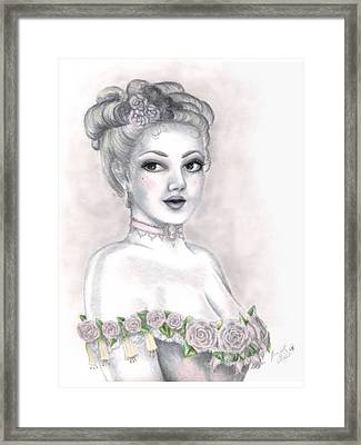 Delicate Beauty Framed Print by Scarlett Royal