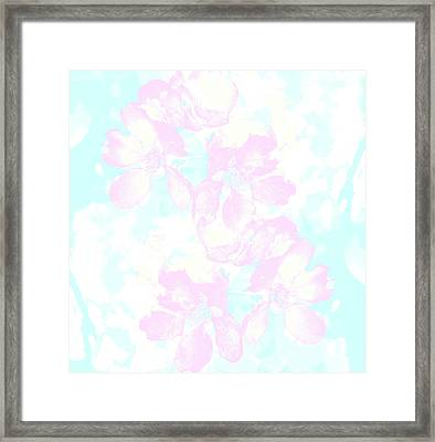 Delicate Flowers And Flowers Framed Print by Nat Air Craft