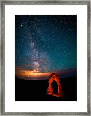 Delicate Galaxies Framed Print by Darren  White