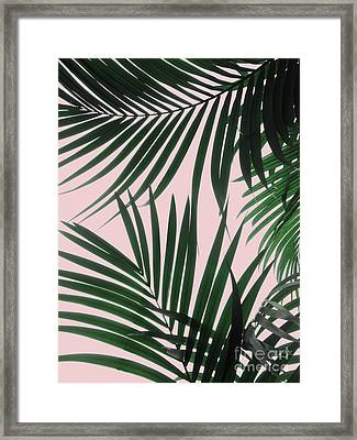 Delicate Jungle Theme Framed Print
