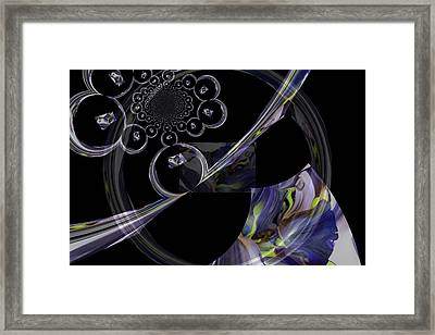 Delicate Parts Abstract Framed Print by Jeff Swan