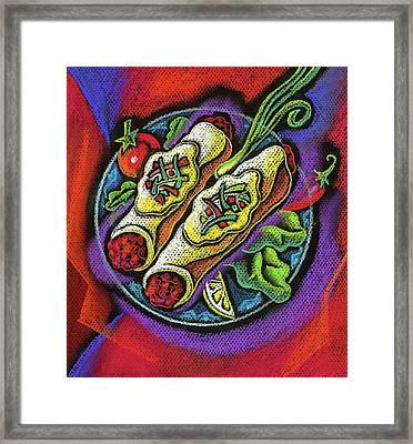 Delicious Anchilada Framed Print by Leon Zernitsky
