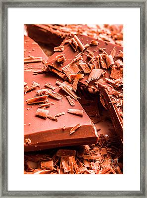 Delicious Bars And Chocolate Chips  Framed Print