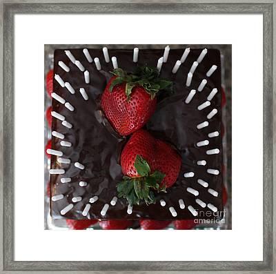 Delicious Cake Framed Print