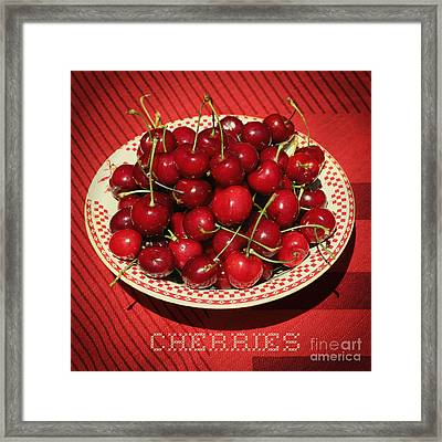 Delicious Cherries Framed Print