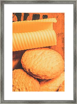 Delicious Cookies With Piece Of Butter Framed Print