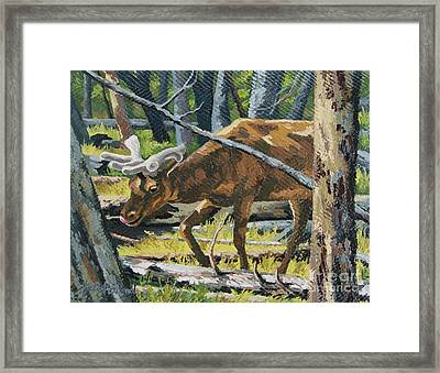 Framed Print featuring the painting Delicious Greens, Yellowstone by Erin Fickert-Rowland