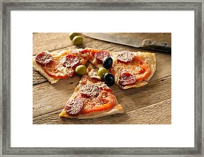 Delicious Italian Homemade Pizza Framed Print by Vadim Goodwill