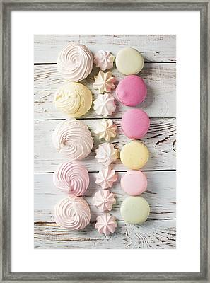 Delicious Macaroons And Merengues  Framed Print by Vadim Goodwill