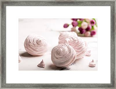 Delicious Merengue On The Light Table Framed Print by Vadim Goodwill
