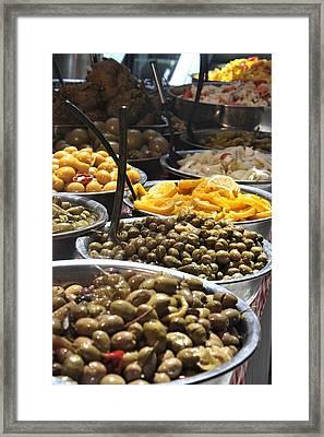 Delicious Olives Framed Print
