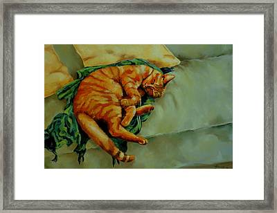 Delicious Sleep Framed Print by Jolante Hesse
