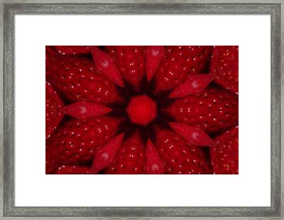 Delicious Strawberries Kaleidoscope Framed Print by Robyn Stacey