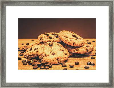 Delicious Sweet Baked Biscuits  Framed Print
