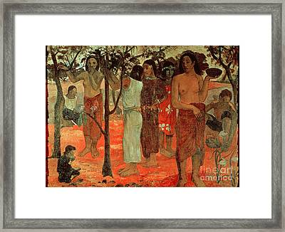 Delightful Days Framed Print by Paul Gauguin