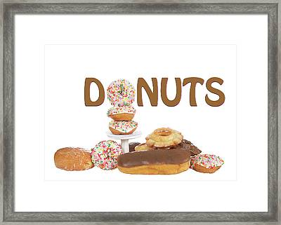 Delightful Donuts Framed Print by Sheila Fitzgerald